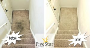 carpeted steps before and after